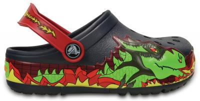 Kids CrocsLights Fire Dragon Clog