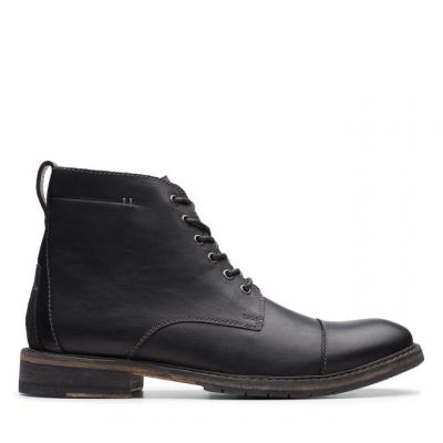 CLARKS Clarkdale Hill Black Leather