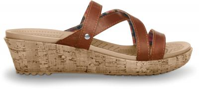 CROCS A-LEIGH LEATHER MINI WEDGE 11847