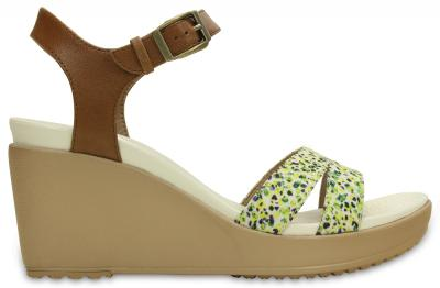 Leigh II Ankle Strap Graphic Wedge
