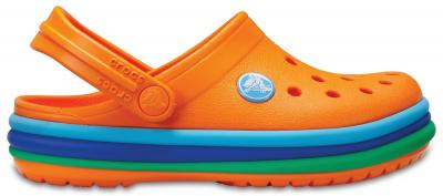 Kids Crocband™ Rainbow Band Clog